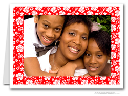 Hibiscus on Red Tropical Holiday Photo Holder Cards (H)
