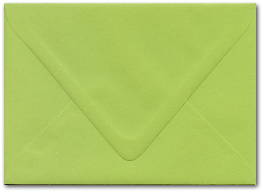 sour apple green envelopes 5 x 7 inches
