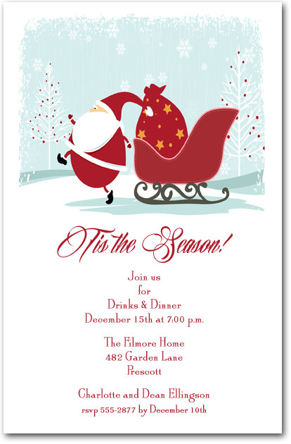 Christmas Eve Santa Party Invitations