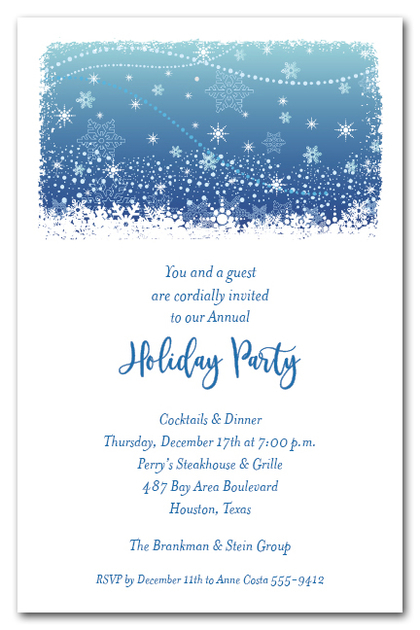 Crystalline Snowflakes Holiday Invitations