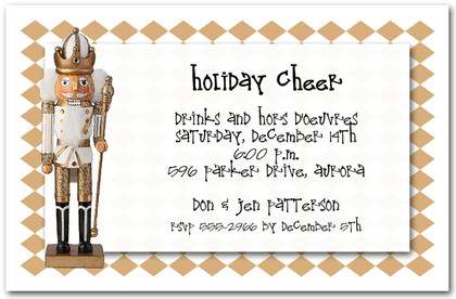 The Golden Nutcracker Holiday Invitations