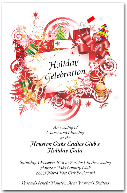Holiday Charm Party Invitations