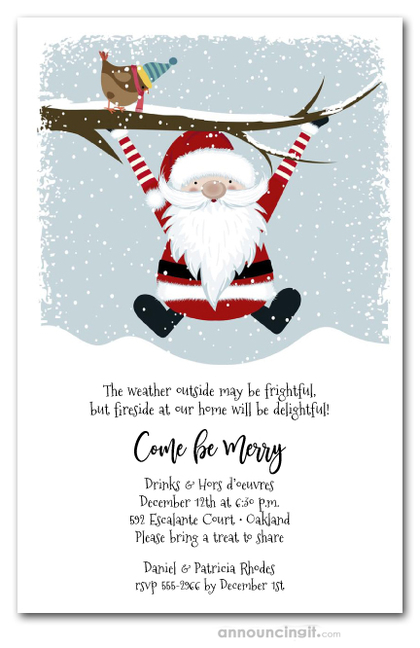 Santa's Coming Christmas Invitations