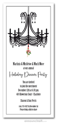 Chandelier and Mistletoe Holiday Invitations