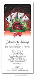 Casino Play Holiday Party Invitations