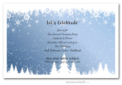 Snowy Pine Grove Holiday Invitations