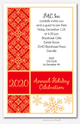 Holiday Joy Tapestry Party Invitations