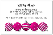 Silver & Hot Pink Ornaments