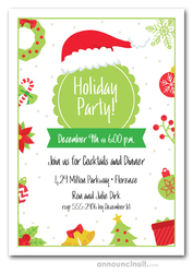 Lime Holiday Party Invitations