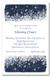Midnight Snowflakes Holiday Invitations