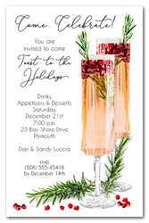 Pomegranate Rosemary Spritzer Holiday Invitations