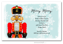 The Red Nutcracker Holiday Invitations