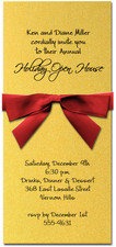 Shimmery Gold Invitation & Red
