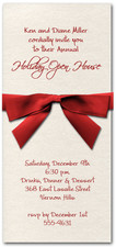 Shimmery White Invitation & Red