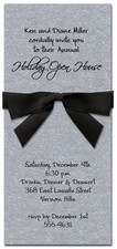 Shimmery Silver Invitation & Black