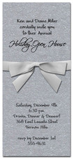 Shimmery Silver Invitation & Silver