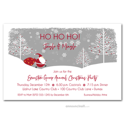 Santa's Trail Christmas Party Invitations