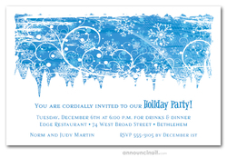 Swirling Snowflakes Invitations