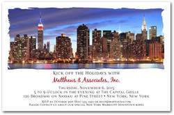 New York Sunset Skyline Invitations