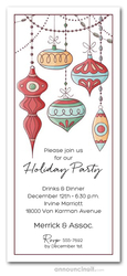 Vintage Glass Christmas Ornaments Invitations