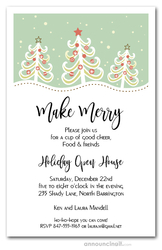 Christmas Trees on Hill Holiday Invitations
