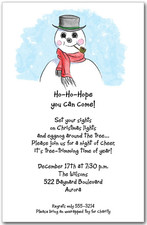 Winter Birthday Party Invitations