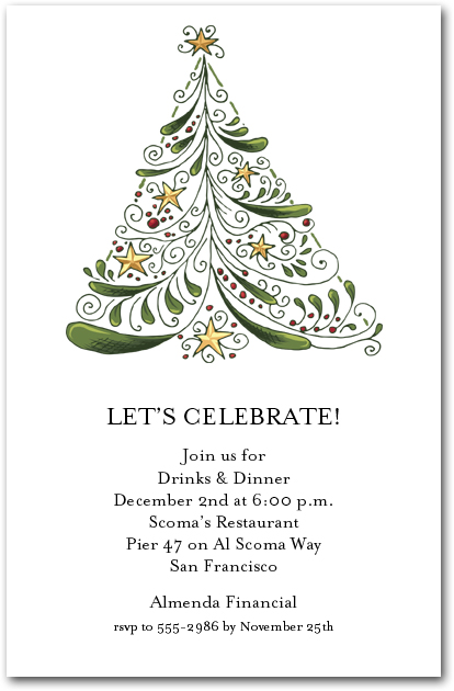 christmas tree invitation selo l ink co