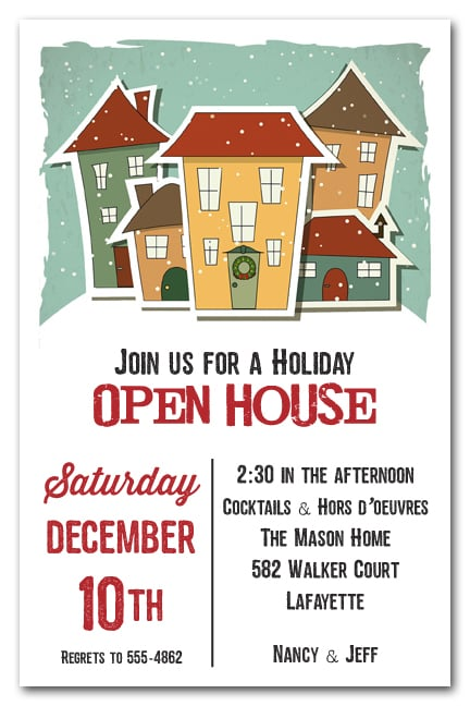 home for the holidays invitation  christmas invitations