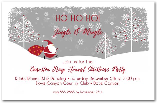 santa s trail holiday party invitations