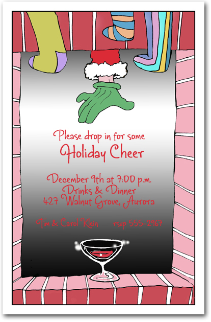 cocktail for santa holiday party invitation