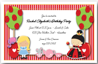 Alice's Tea Party Invitation