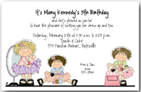 Beauty Girls Dress Up Birthday Party Invitation