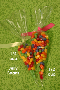 Candy Cones Party Favor Cello Bags