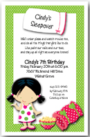 Cindy's Sleepover Party Invitation