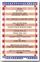 Grunge Stars & Stripes Invitation