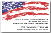 Grunge USA Flag Invitations