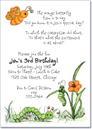 Hanging Out Caterpillar Party Invitation