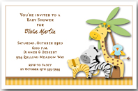 Jungle Pals Party Invitation