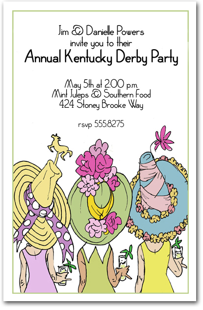 Derby Day Lady Party Invitation