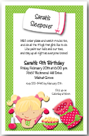 Sarah's Sleepover Party Invitation