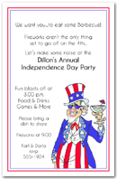 Uncle Sammy Patriotic Invitation