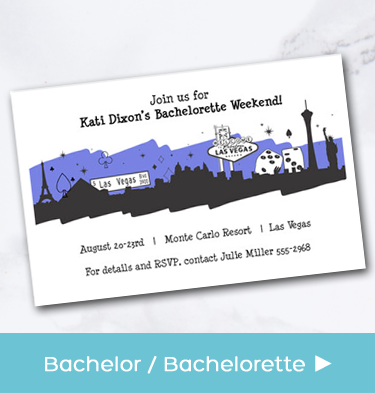 Bachelorette and Bachelor Party Invitations