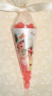 Cello Candy Cones and Ribbons Party Favors - Kentucky Derby Elegance