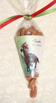 Cello Candy Cones and Ribbons Party Favors - Kentucky Derby Race Horse