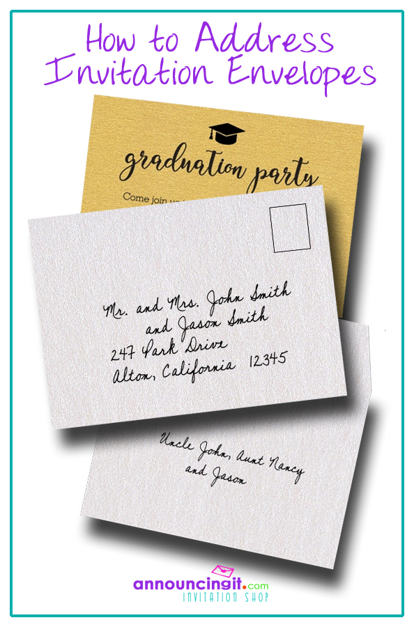 How to address party invitation and wedding envelopes | Announcingit.com