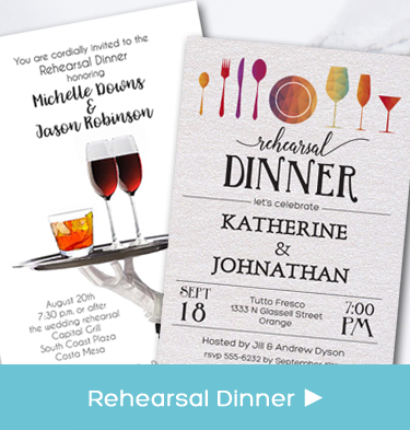 Wedding Rehearsal Dinner Party Invitations