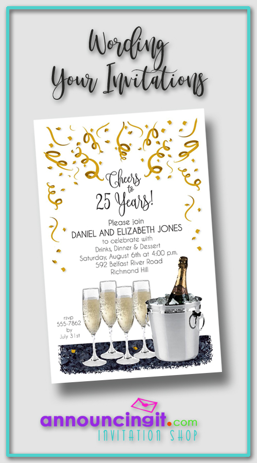 Wording Your Party or Wedding Invitations | Announcingit.com