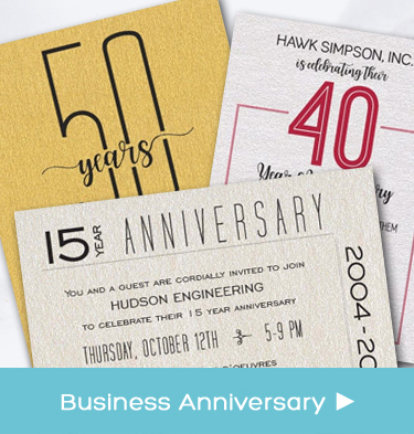 Business - Company - Corporate - Business Anniversary Party Invitations