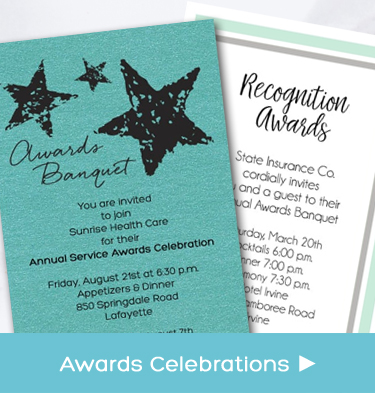 Business and Company Service Awards Celebration Party Invitations
