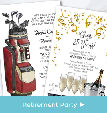 Business - Company - Corporate Retirement Party Invitations